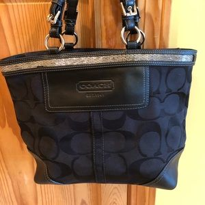 Coach Black Medium Handbag Tote G06K-10445
